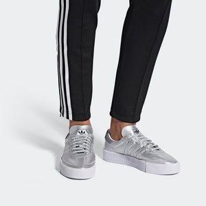 adidas Shoes - Adidas Sambarose Silver Metallic
